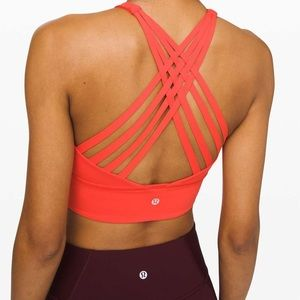 Lululemon Free To Be Bra High Neck Thermal Red